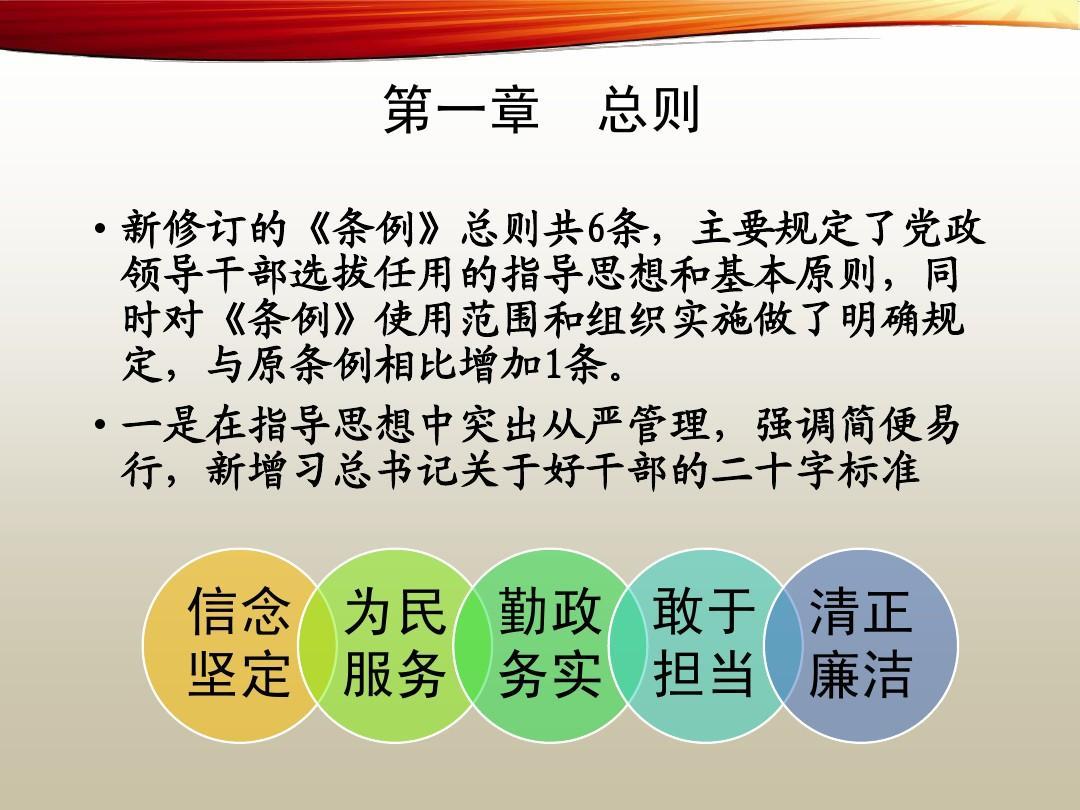 党政领导干部选拔任用工作条例》ppt
