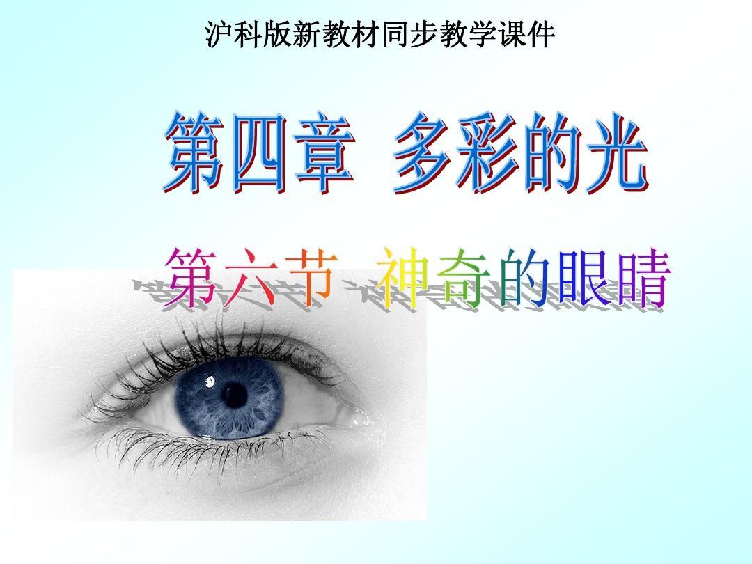 沪科版《4.6神奇的眼睛》ppt课件