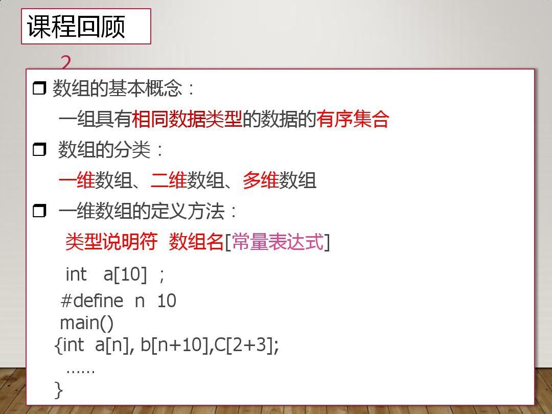 第7章C语言数据结构之二维数组PPT贵州火锅店装修设计图片