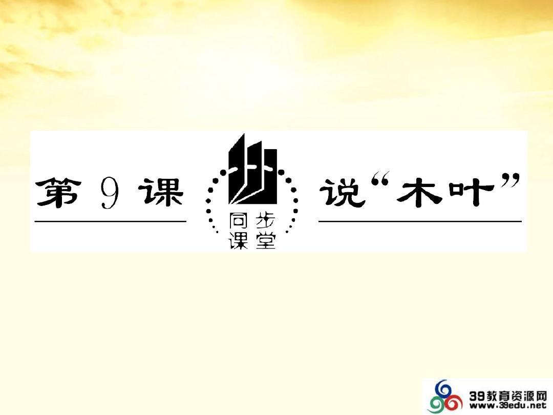 """2013届高中语文 3.9《说""""木叶""""》课件 新人教版必修5PPT"""