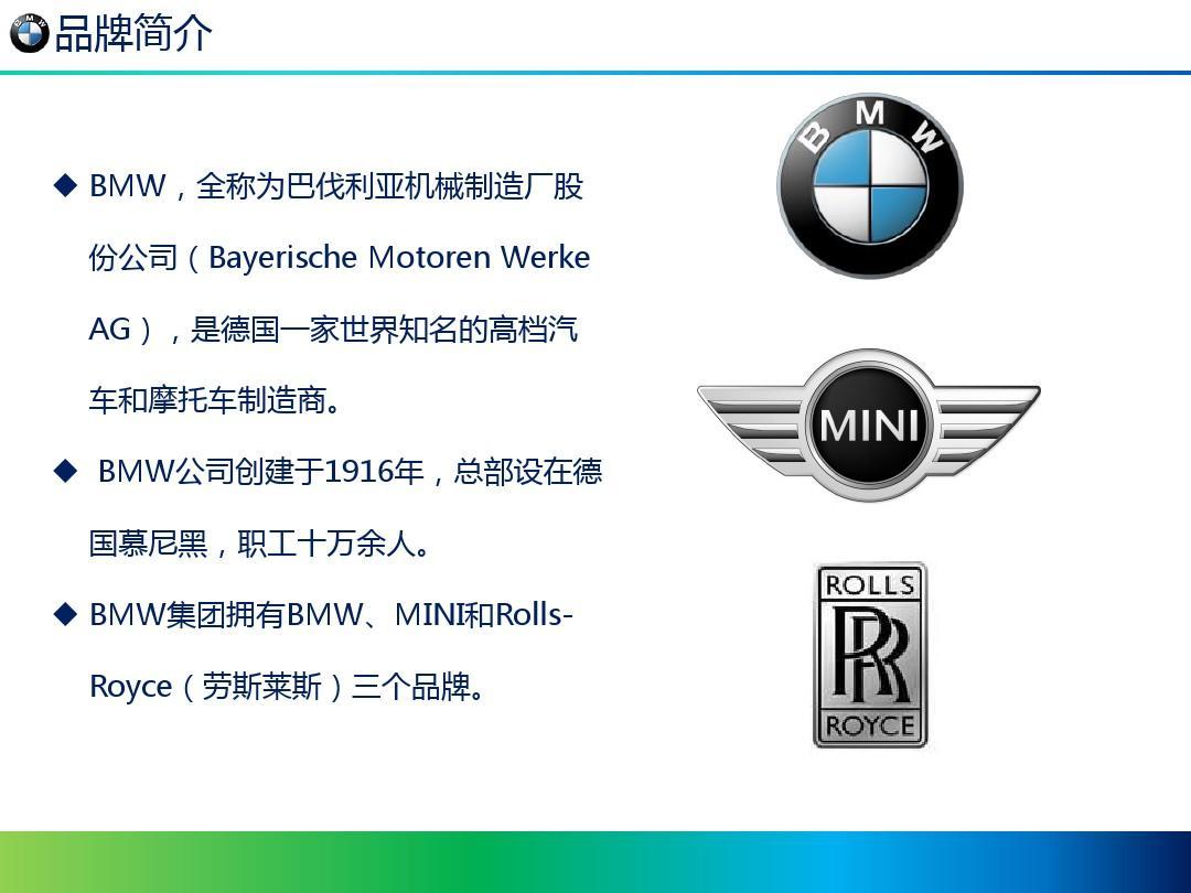 xxx公司-宝马品牌培训ppt图片