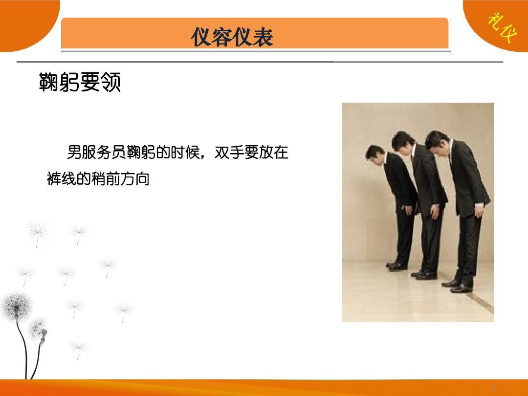 酒店服务礼仪培训资料(ppt_29)图片