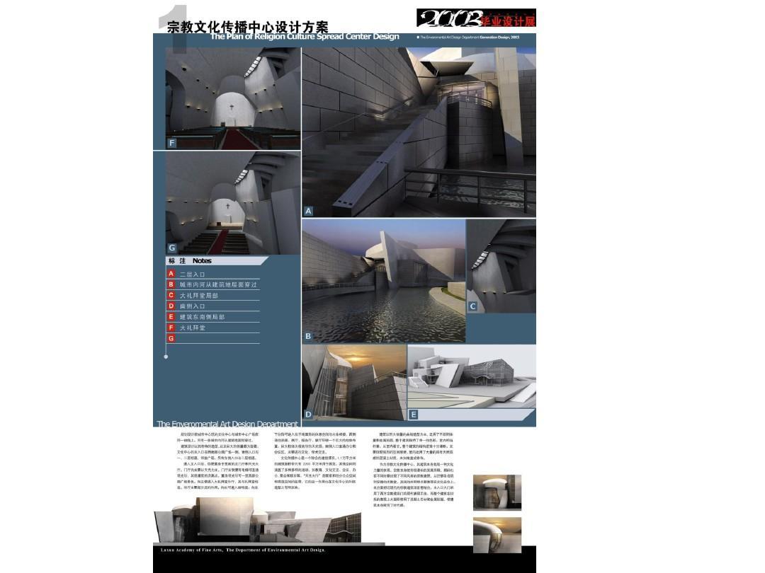 毕业设计——建筑景观(排版参考)ppt图片