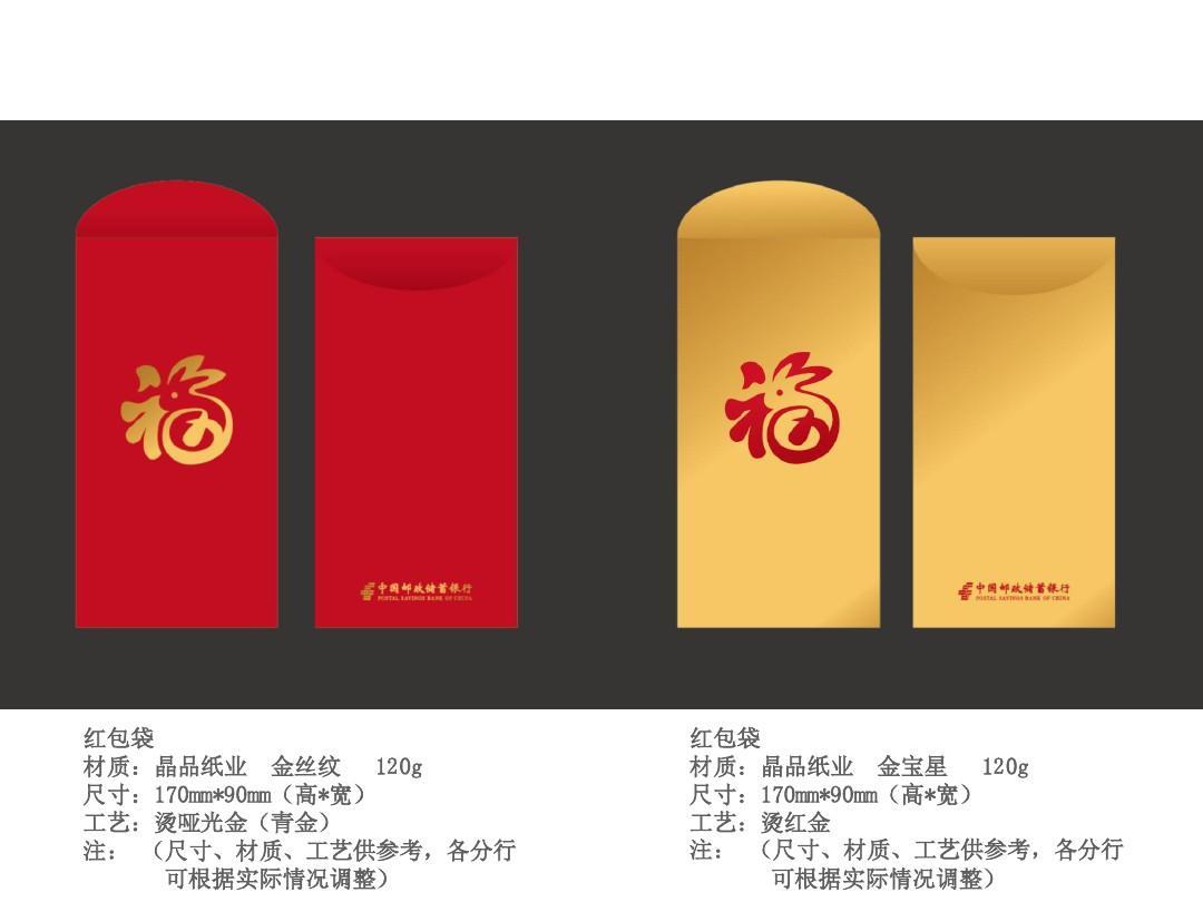 邮政储蓄 宣传用红包,对联和福字ppt图片