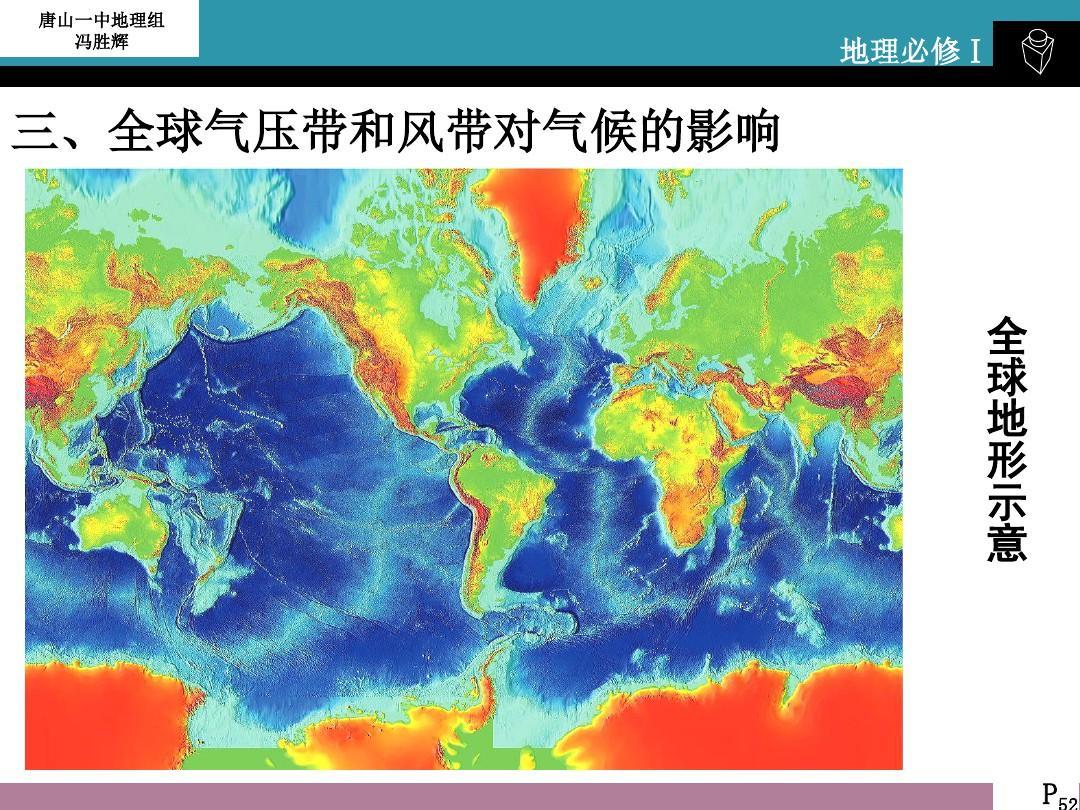 气压带风带季节移动及大气活动中心ppt图片