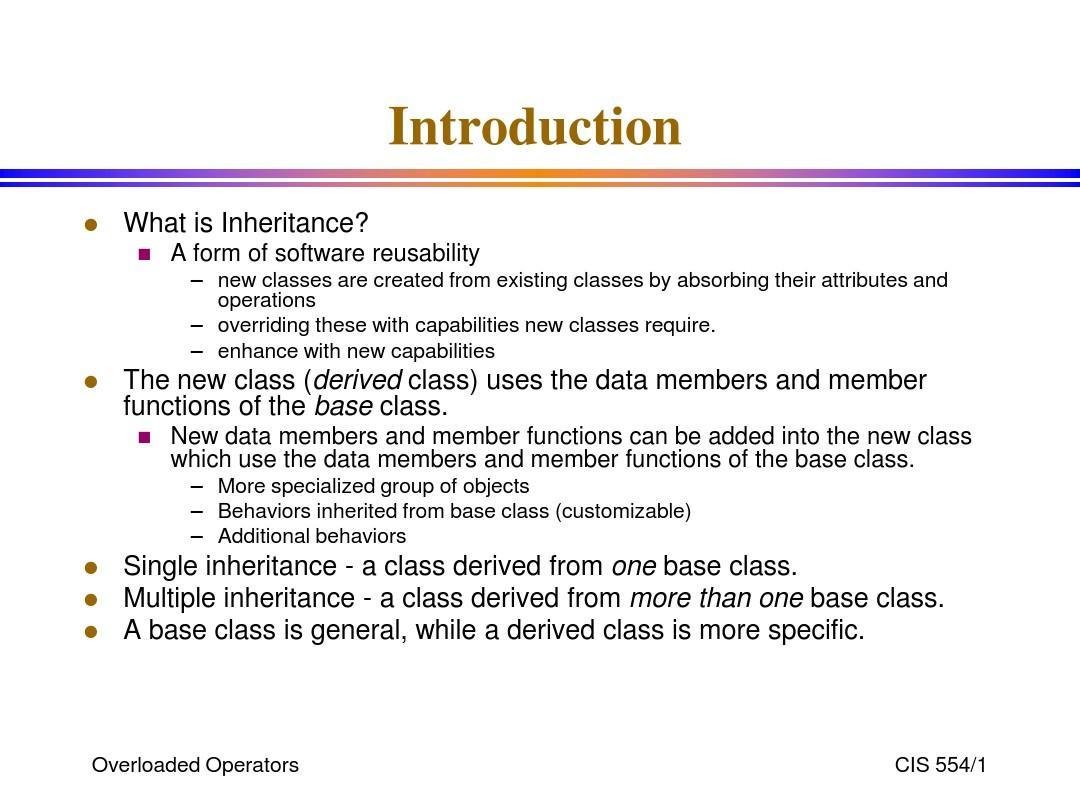 Inheritance C++ 教程,英文版(精华)