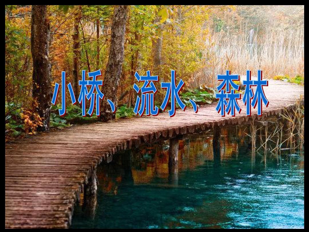 第一周小桥流水森林ppt图片