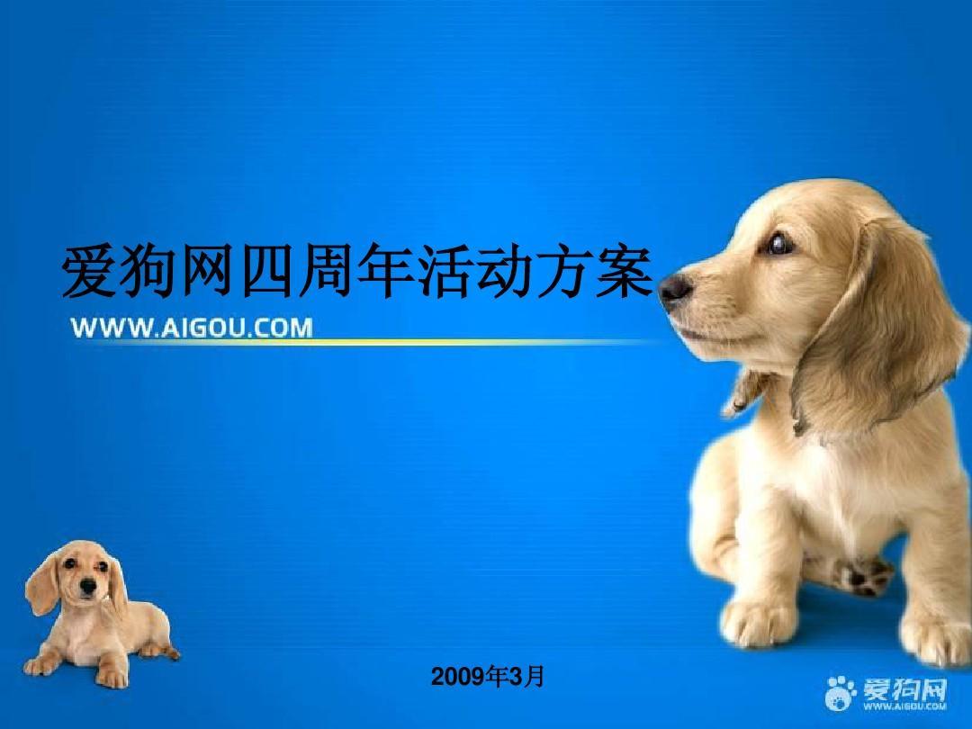 爱狗网四周年活动PPT