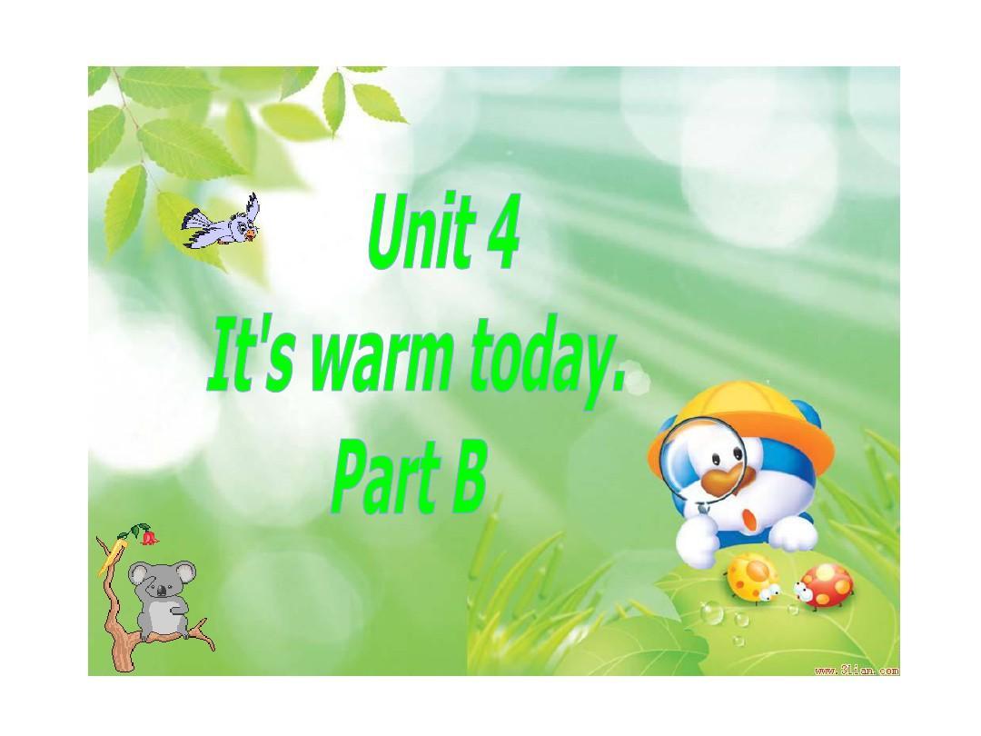 人教(新版)四上《Unit 4 How's the weather today》(lesson22)ppt课件