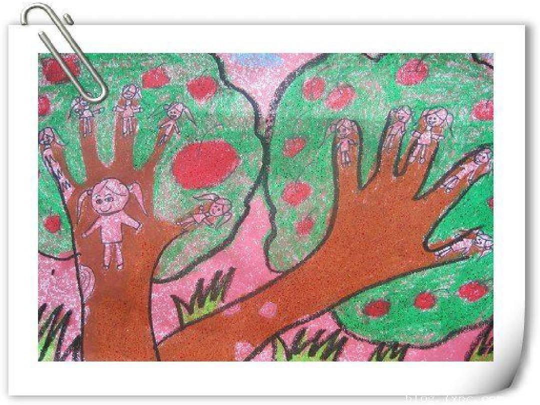 幼儿园课件:大班美术《手形添画》精美ppt图片