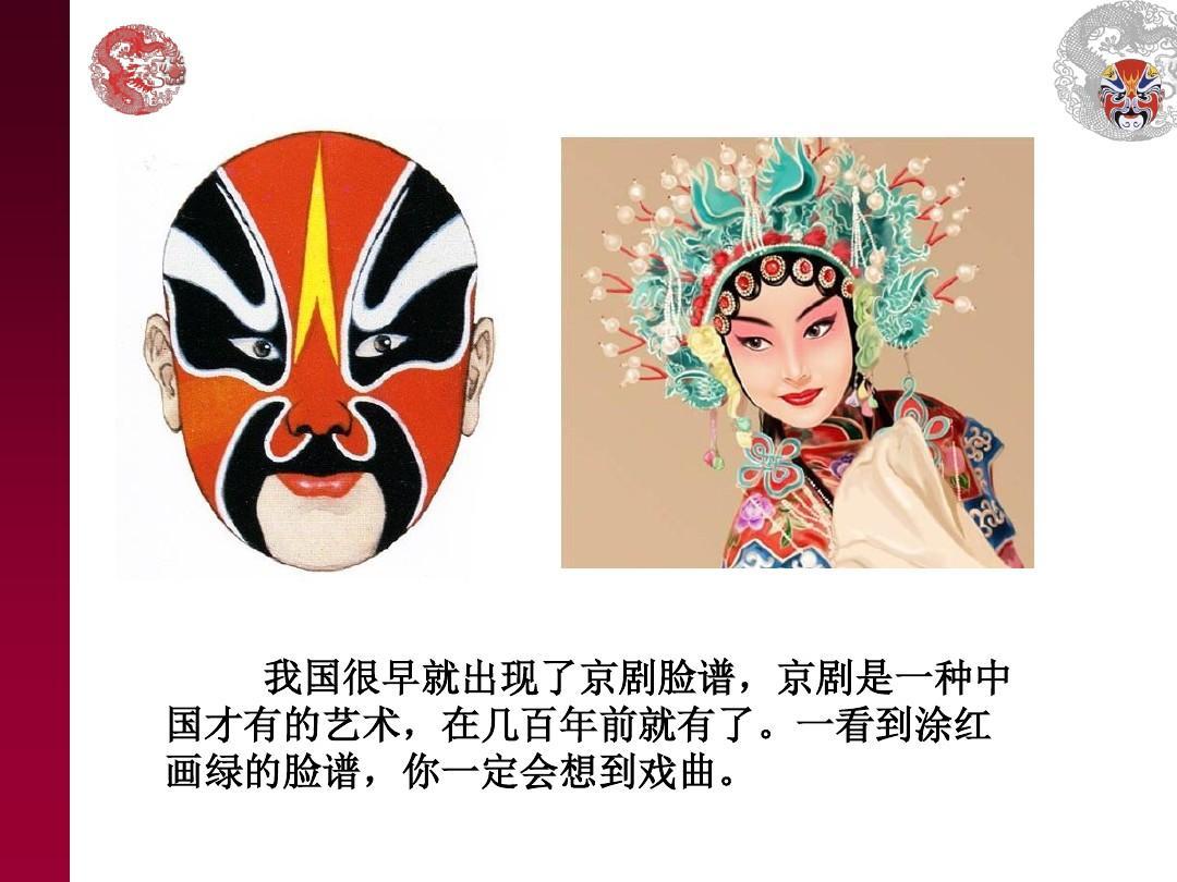 京剧脸谱ppt图片