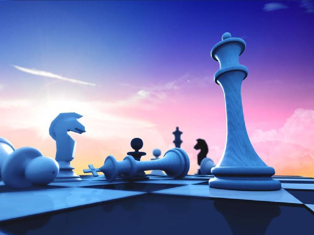 国际象棋商务ppt模板图片