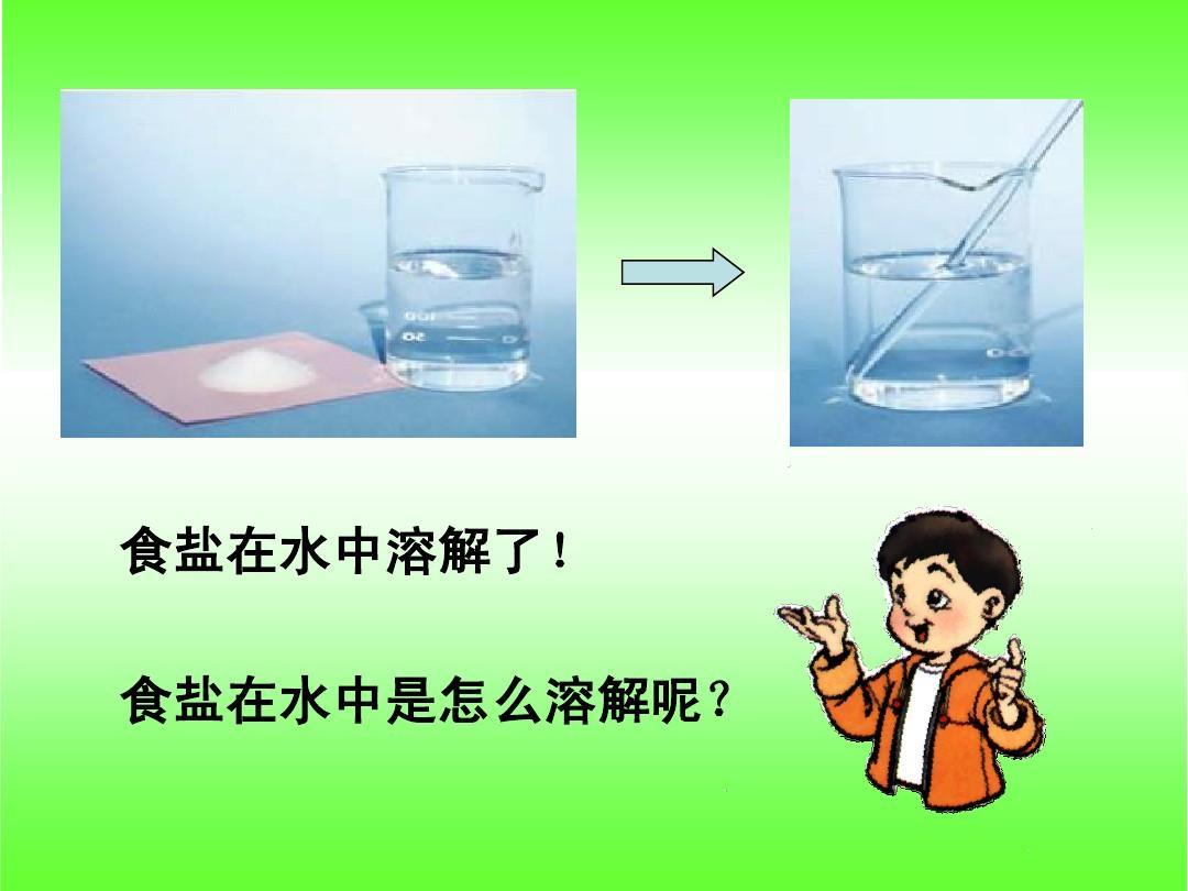 食盐在水中溶解了! 食盐在水中是怎么溶解呢?