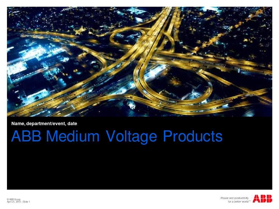 ABB MV presentation 2011 master