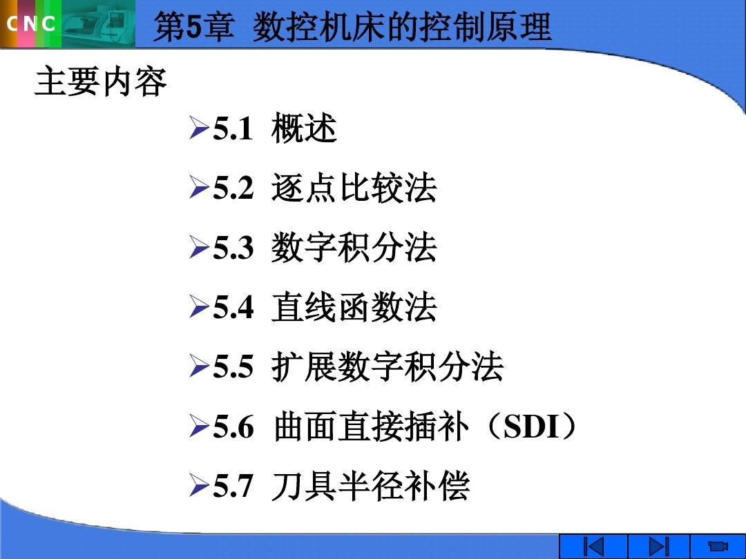 第5章 数控机床的控制原理PPT