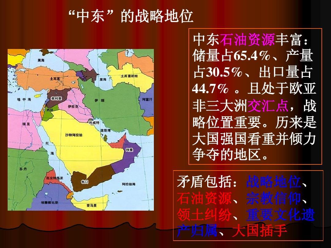 巴以冲突中东地�_所有分类 人文社科 军事/政治 巴以冲突的历史及现状ppt  \