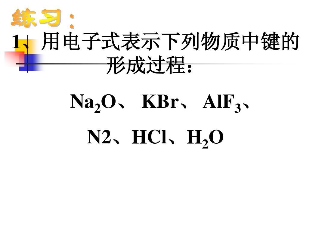 常见物质的电子式及结构式ppt图片