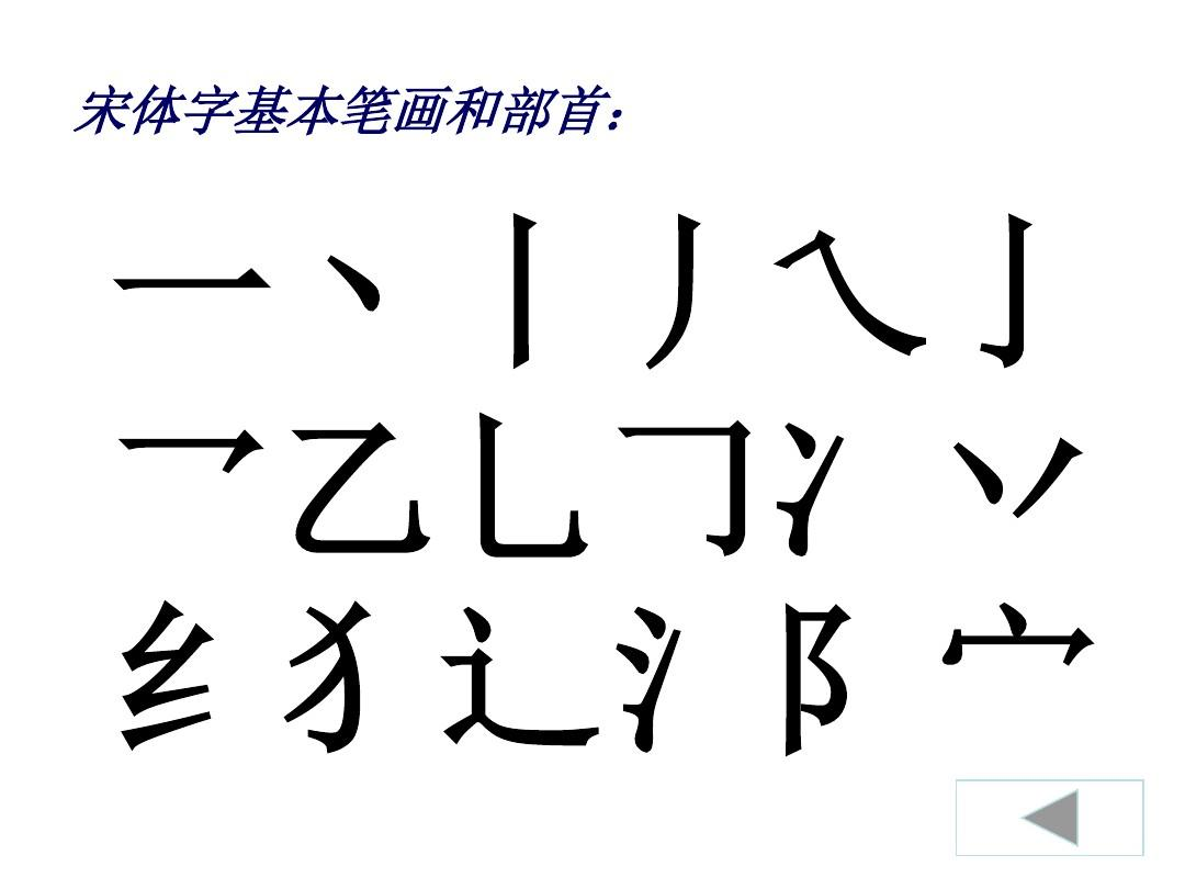 实用美术字(宋体)ppt图片
