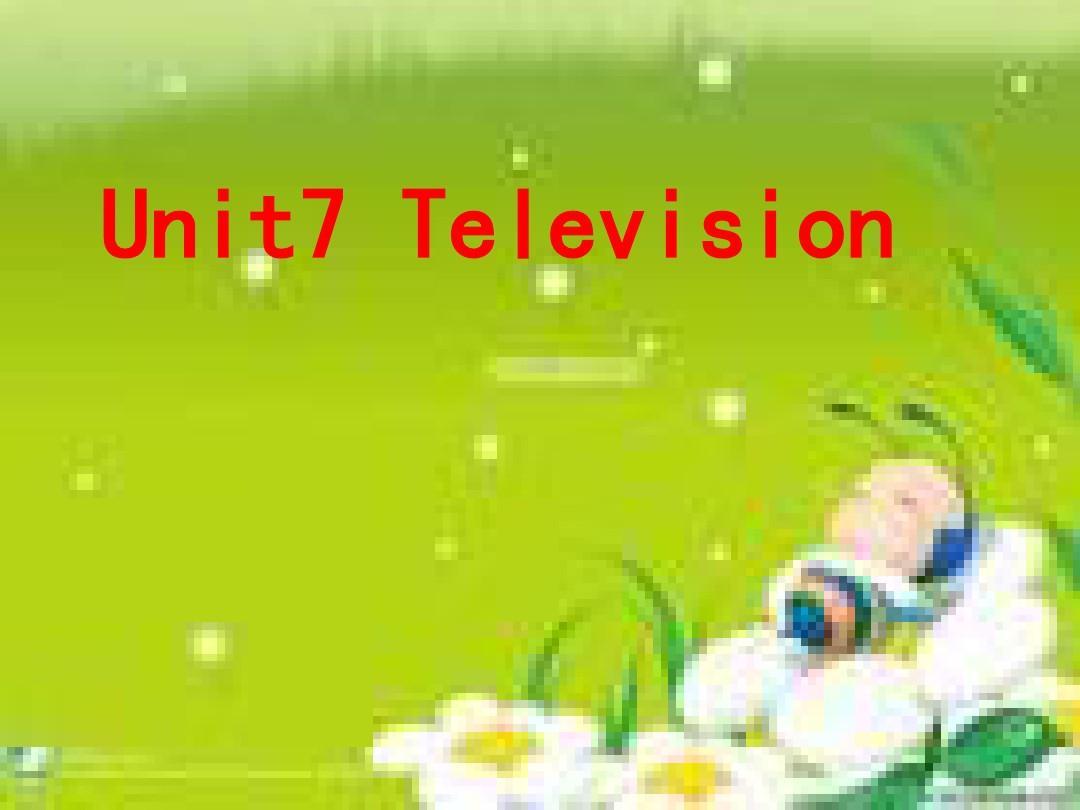小学英语外研版六年级下册Unit 7 Television