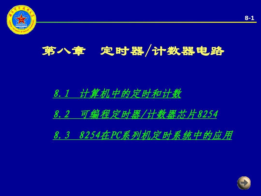 微机原理 第八章 定时器计数器电路PPT