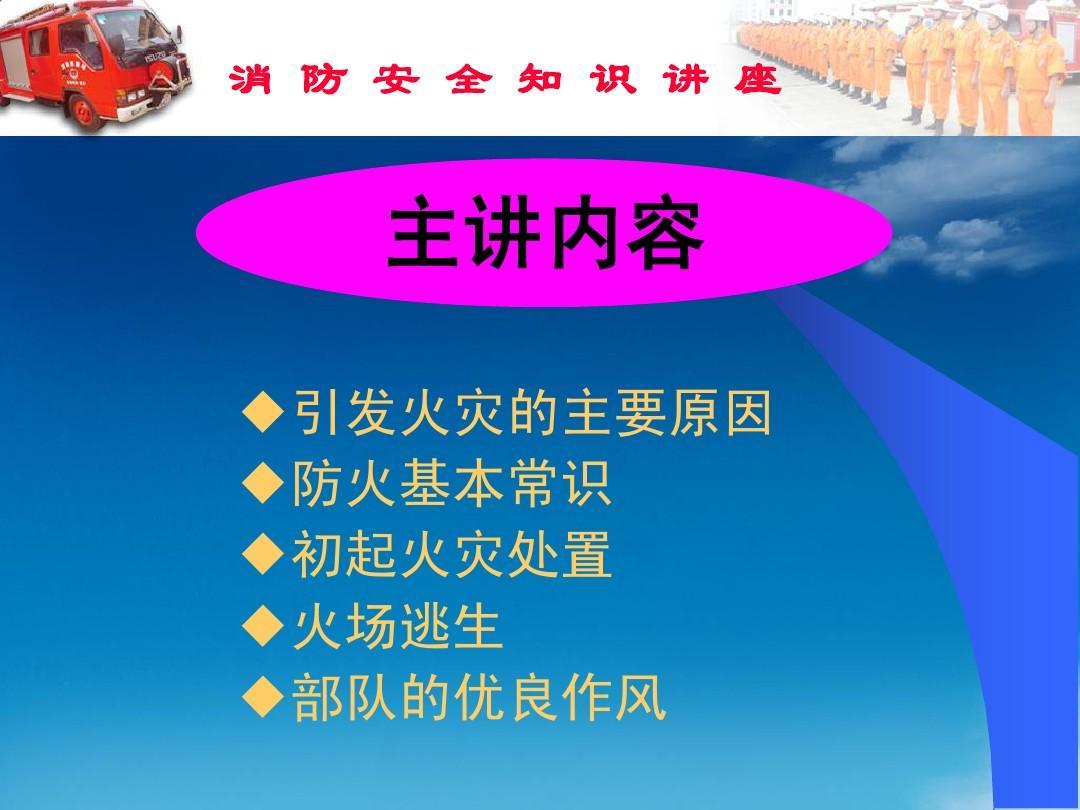 中学生消防安全课件ppt图片