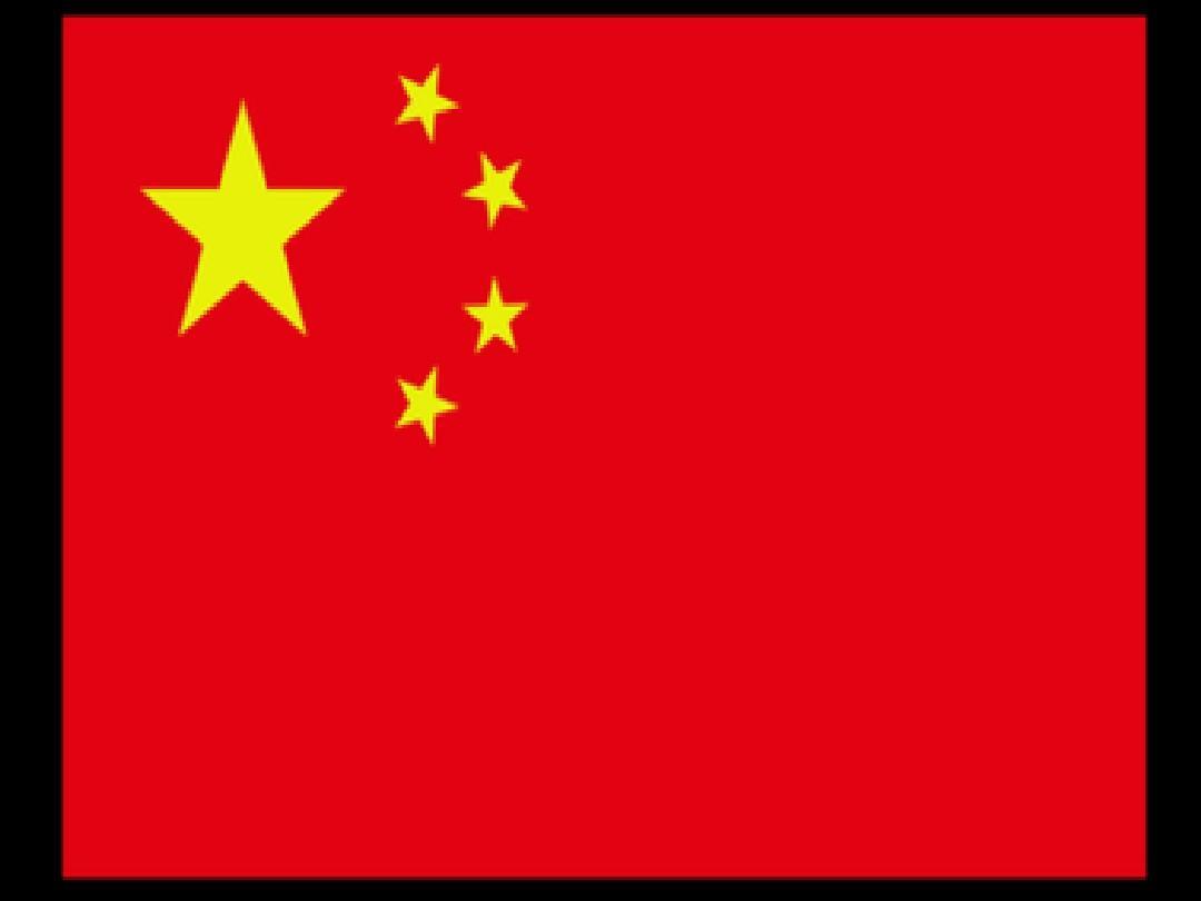 大班美術:國旗國旗紅紅的哩