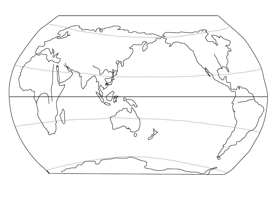 地图集(世界和中国地图空白图)ppt104张_word