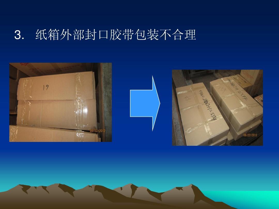 纸箱外部封口胶带包装不合理图片