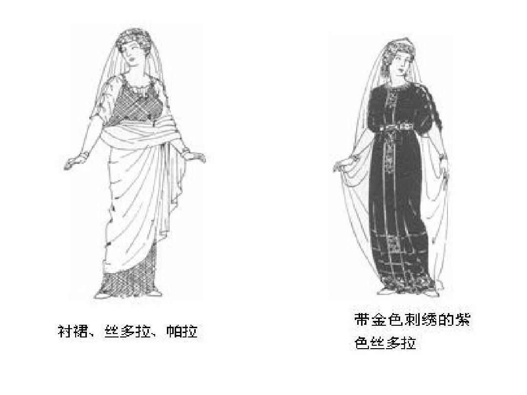 罗马式时期服装图片