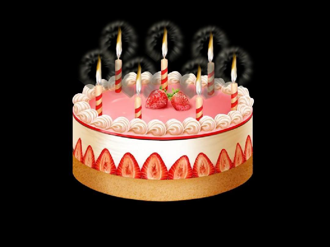 动态生日蛋糕蜡烛ppt模板_word文档在线阅读与下载图片