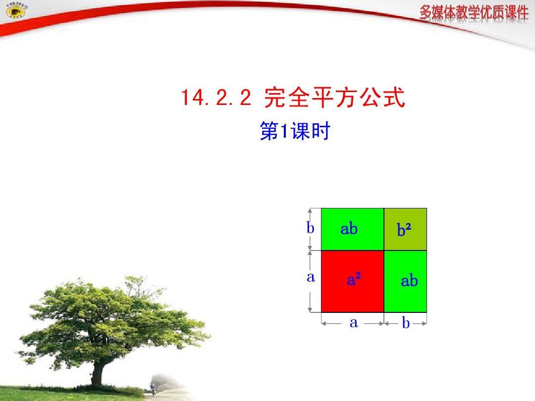人教版14.2.2__完全平方公式_第1课时