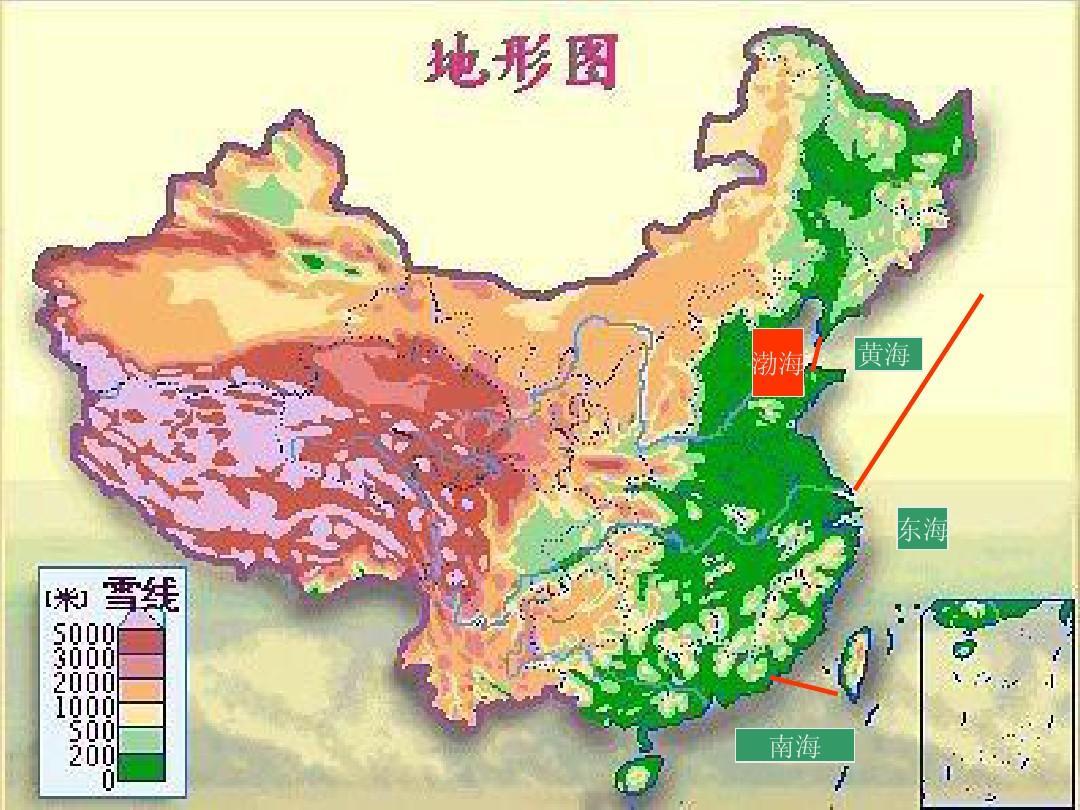 中国河流地图 高清_中国彩色山脉河流地形图_word文档在线阅读与下载_无忧文档