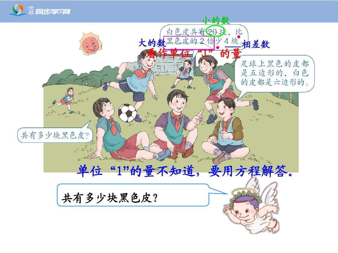 课件教版教学五上册方程《年级问题与实际(例1,例2)》小学金品新人ppt图形添画教案图片