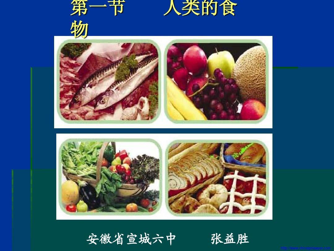 人类的食物生物课件