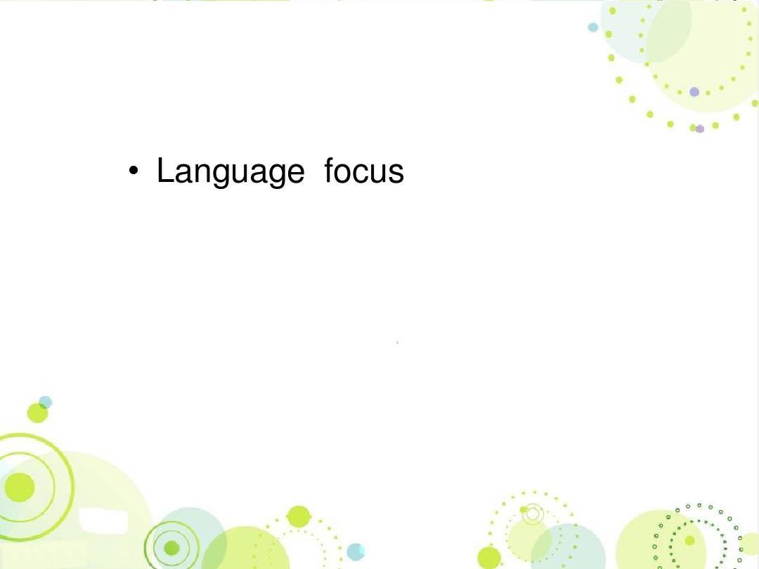 2016最新译林牛津版高中英语选修十 Unit1 Building the future language focus精品课件