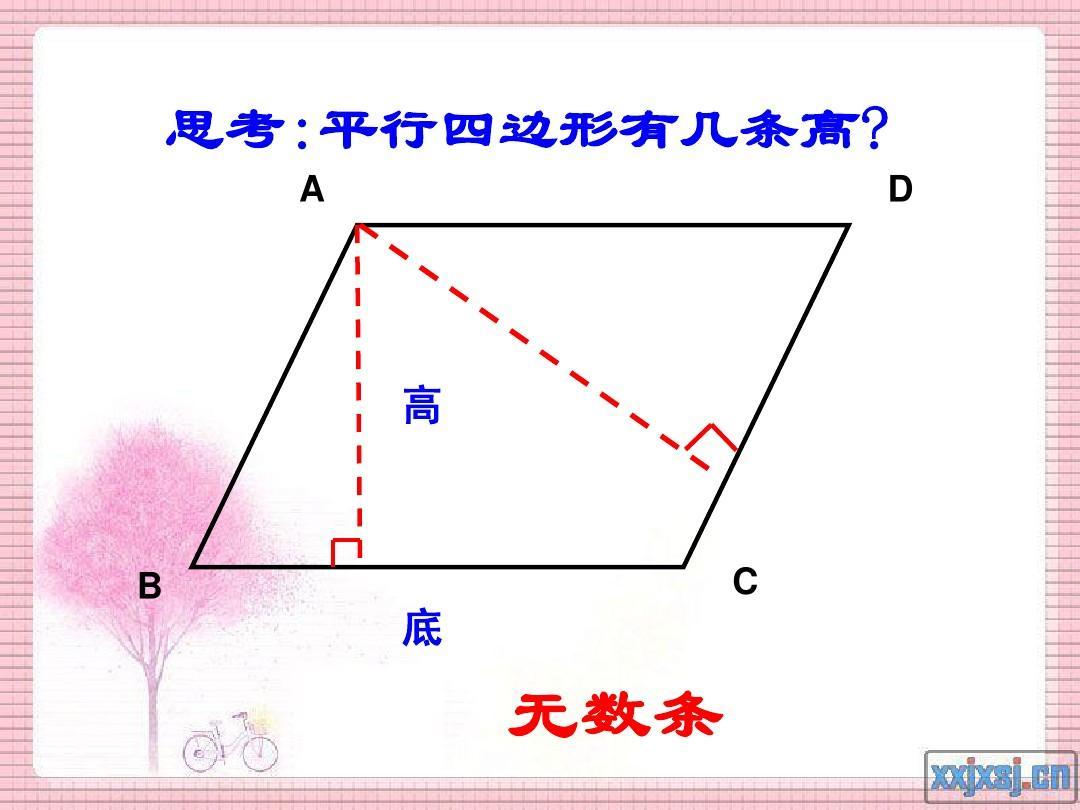 人教版小学数学四年级上册《画平行四边形和梯形的高》ppt图片