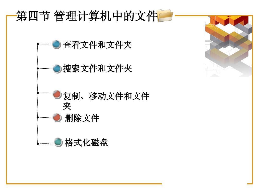 初一第二章第四节管理计算机中的文件