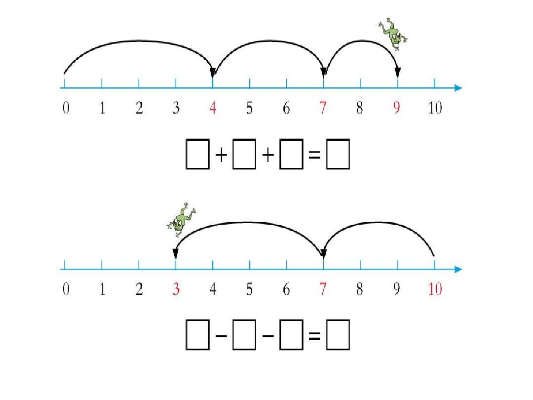 看图列式专项练习之连加连减加减混合青岛版一年级数学上册答案ppt图片