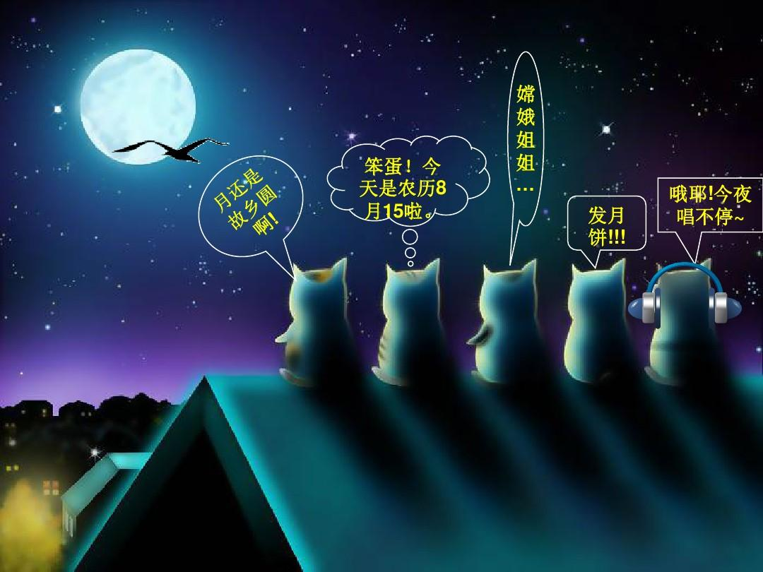 快乐中秋节动态ppt模板图片