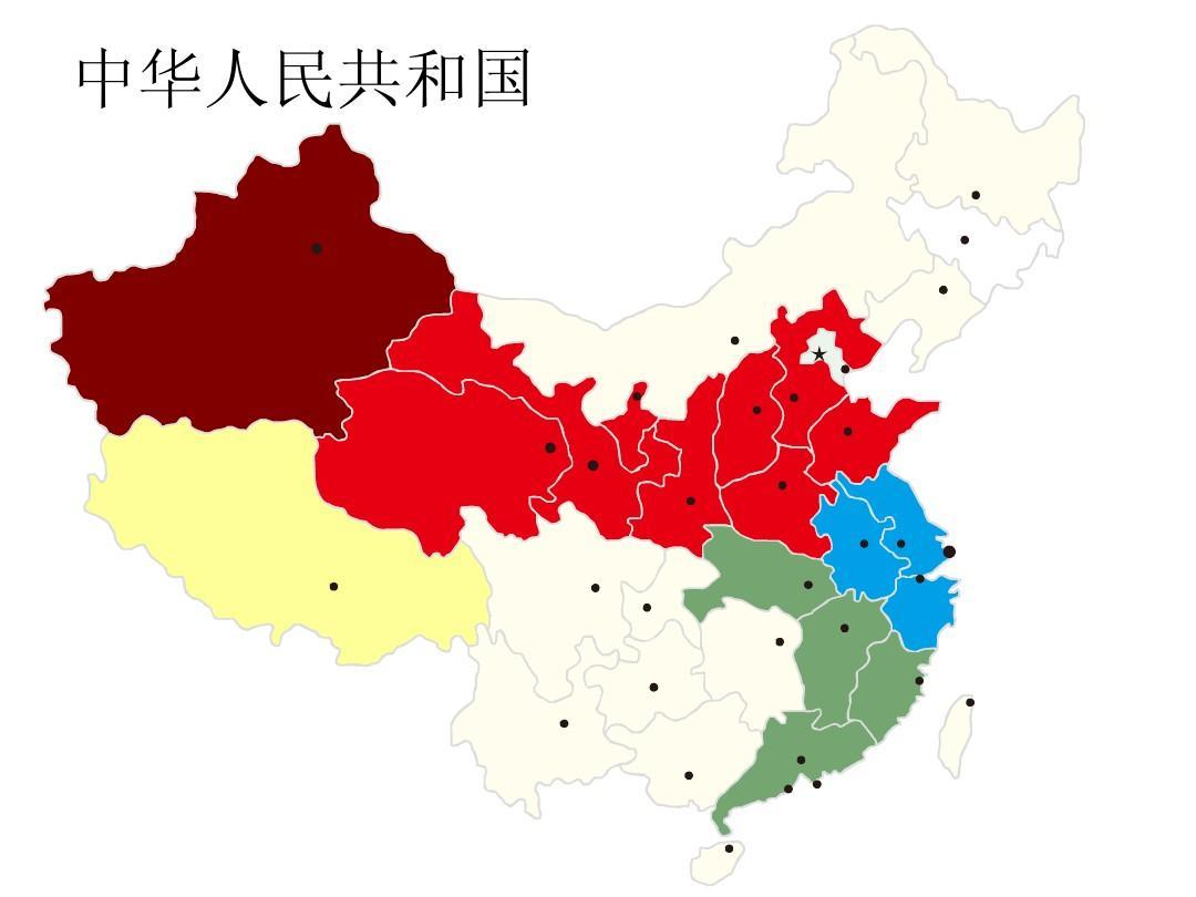 中国轮廓图 中国地图ppt图片