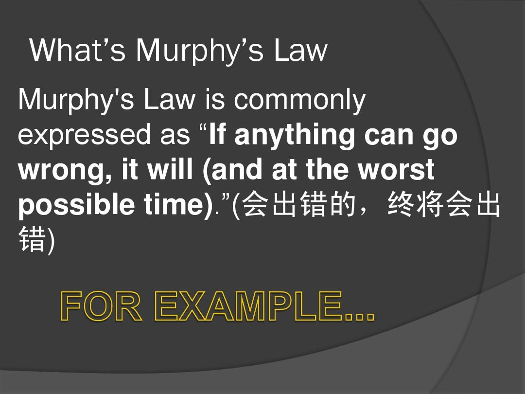 Murphy's Law(墨菲定律)PPT_word文档在线阅