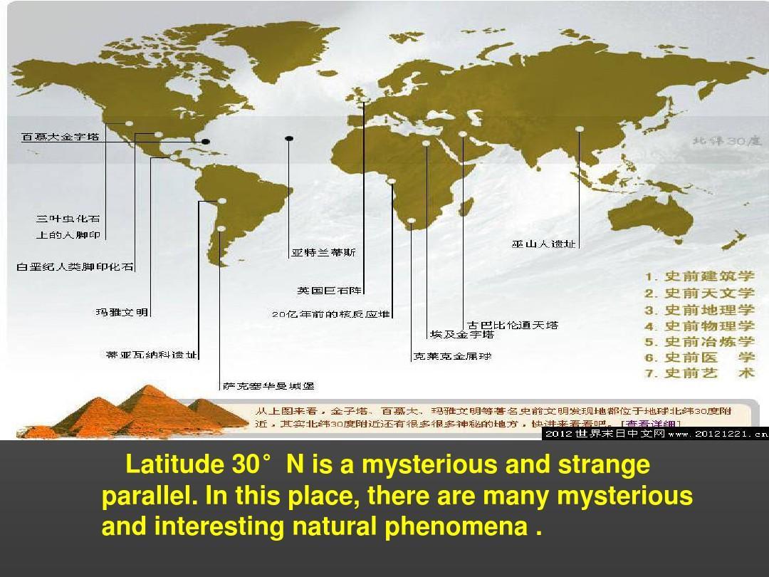 神秘的北纬30度ppt
