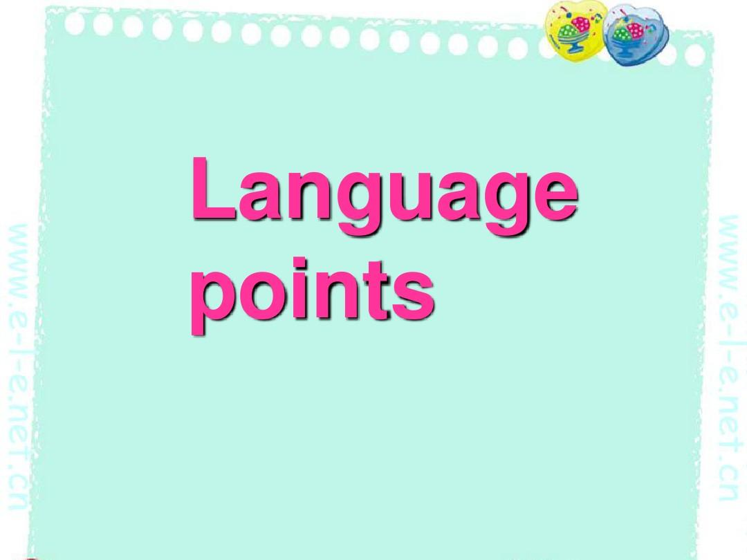 选修七 robotslanguage pointsPPT