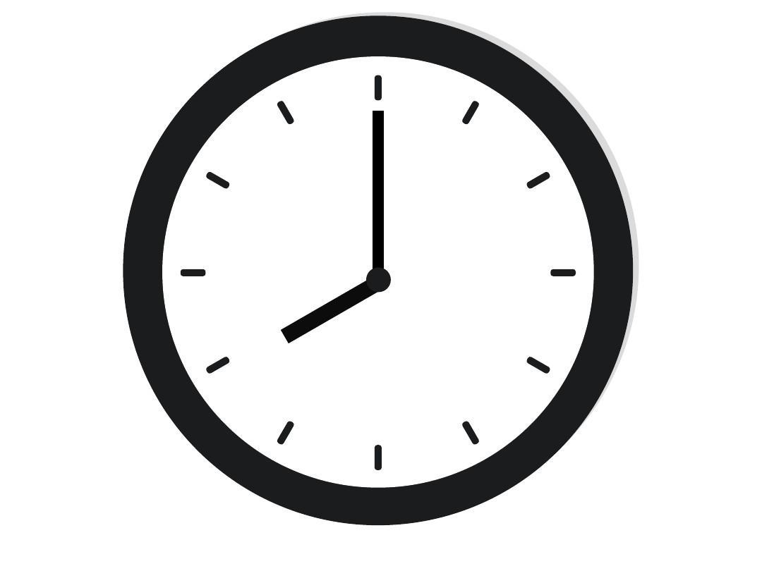如何在ppt中制作钟表旋转动画效果图片