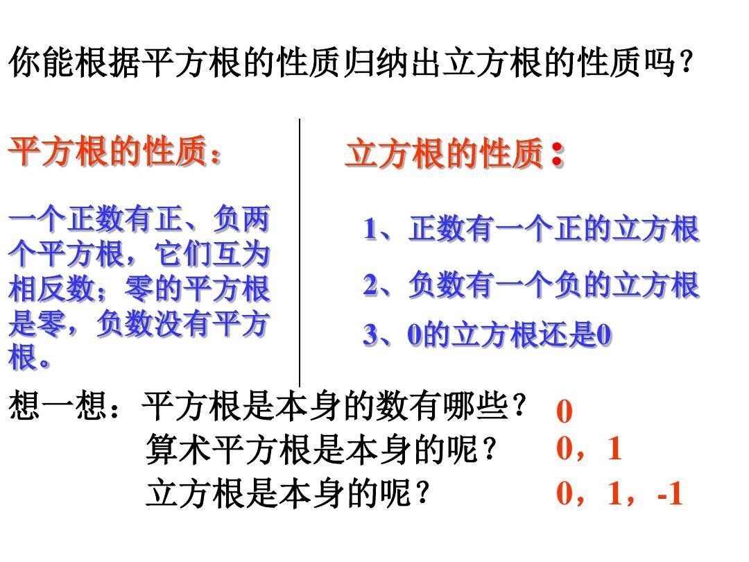 0算术平方根是本身的呢?0,10,1,-1立方根是本身的呢?园林植物教案图片