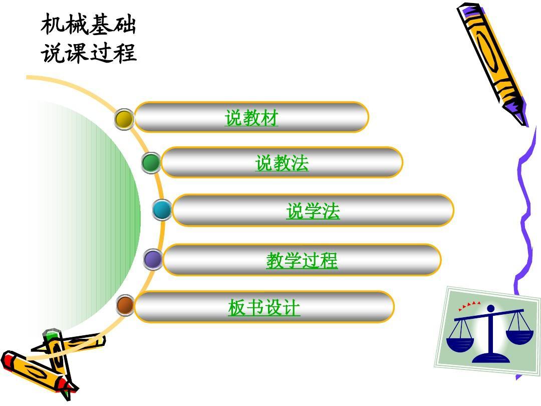 机械基础说课过程说教材说教法说学法教学过程板书设计图片