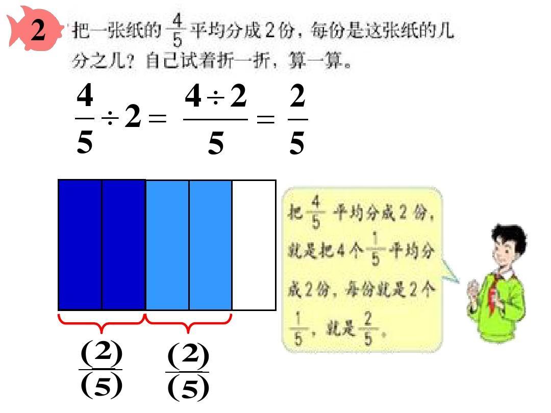 上册数学第三除法第一分数_整数数学的单元(例1)与集体总结小学(例2)课时一意义分数组年级除以备课图片