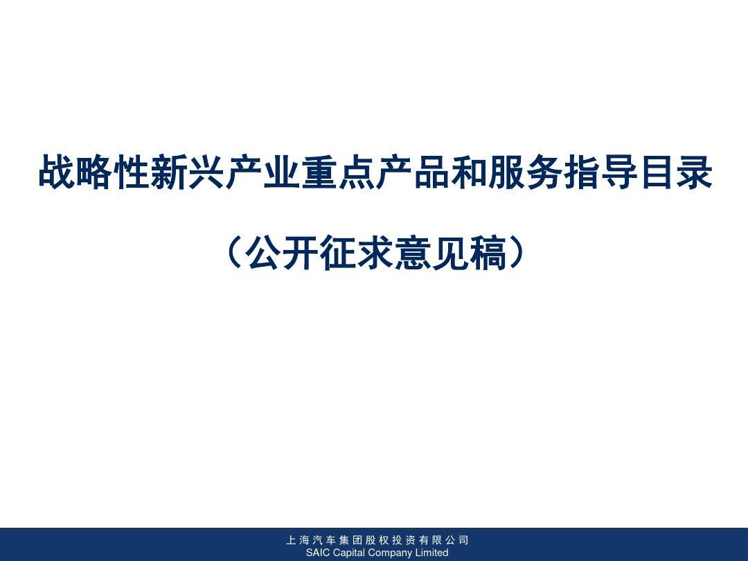 战略性新兴产业重点产品和服务指导目录总结ppt