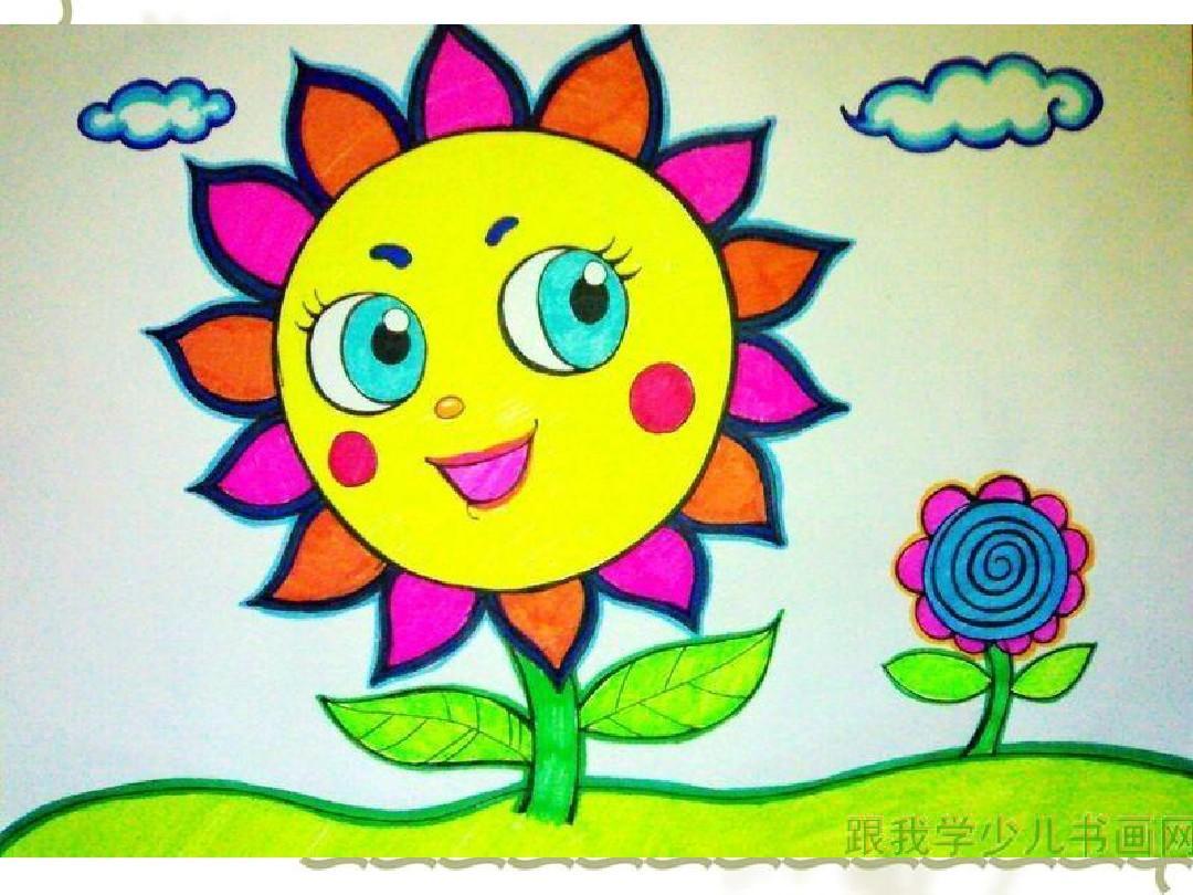 幼儿绘画花朵图片图片