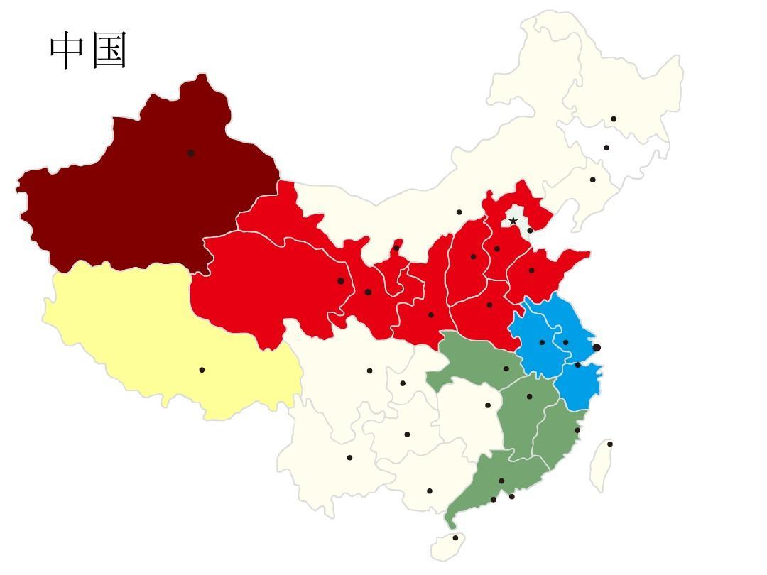中国城市地图_中国分省地图(带城市级别)ppt